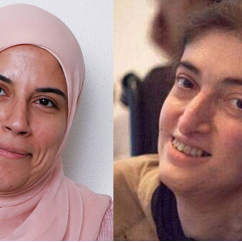 Deena Kamel, left, and Raya Al Jadir, right, are recipients of the Rosalynn Carter Fellowships for Mental Health Journalism in the UAE.